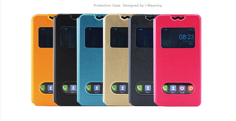 New 360 Rotating Stand Flip Double View Window Leather Cover For oppo find 7 Case Cell Phone Cases Accessories 6 Colors(China (Mainland))