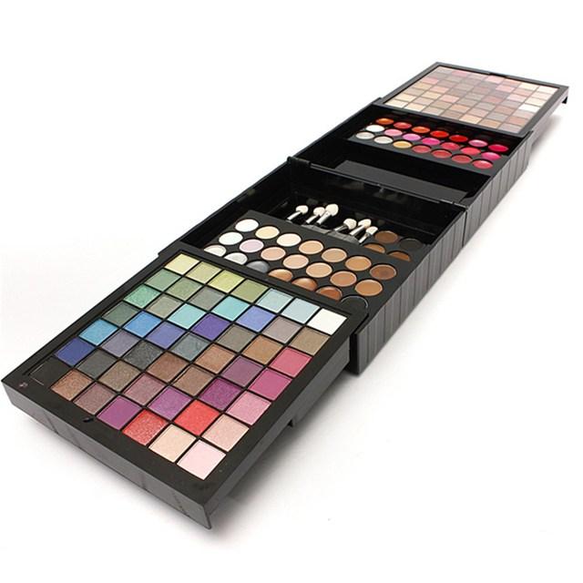Pro 177 макияж косметический комплект тени румяна блеск для губ лоб шейдеров корректор палитра уф-гель кисть кит инструменты