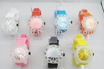 fashion sports watch 7 color light LED watch can mix colors 200pcs/lot+Free shipping
