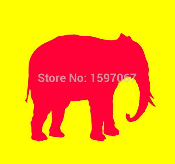 Elephant Africa Republican Graphic Sticker Car Window Truck Bumper Door Laptop Vinyl Decal 8 Colors(China (Mainland))