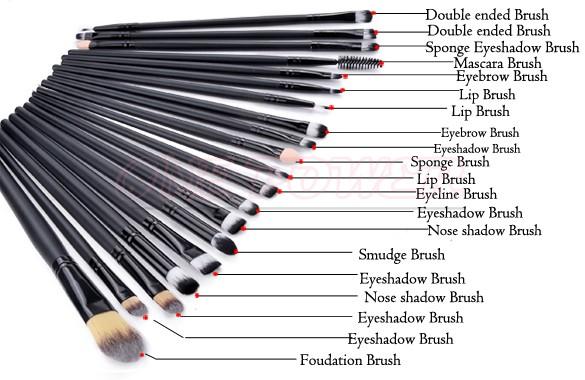 2014 HOT Professional 20 pcs Makeup Brush Set Tools Make-up Kit Brand Make Up Brush Set 22(China (Mainland))