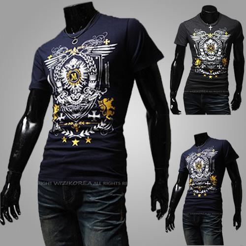 Мужская футболка None 2015 o m/4xl & Slim Fit T43 футболка wearcraft premium slim fit printio шварц