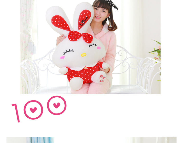 big stuffed lovey long ears rabbit toy plush red spots love rabbit doll gift about 75cm<br><br>Aliexpress