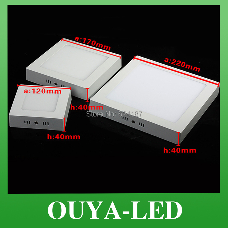 No Cut ceiling 6w 12w 18w 24w Surface mounted led downlight Square panel light SMD Ultra thin circle ceiling Down lamp kitchen<br><br>Aliexpress