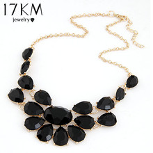 Buy 17KM Fashion lady Banquet Accessories multicolour acrylic gem choker necklace Pendant jewelry statement bib necklace women for $1.91 in AliExpress store