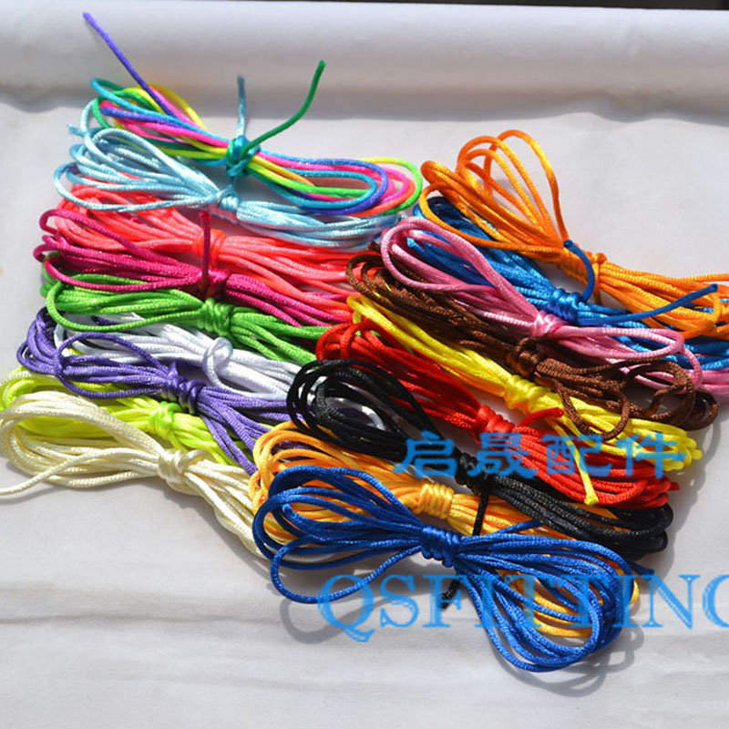 10Meter Soft Satin Rattail Silk Macrame Cord Nylon Chinese Knot For Diy Bracelet Necklace Jewelry Findings Accessories 2mm(China (Mainland))