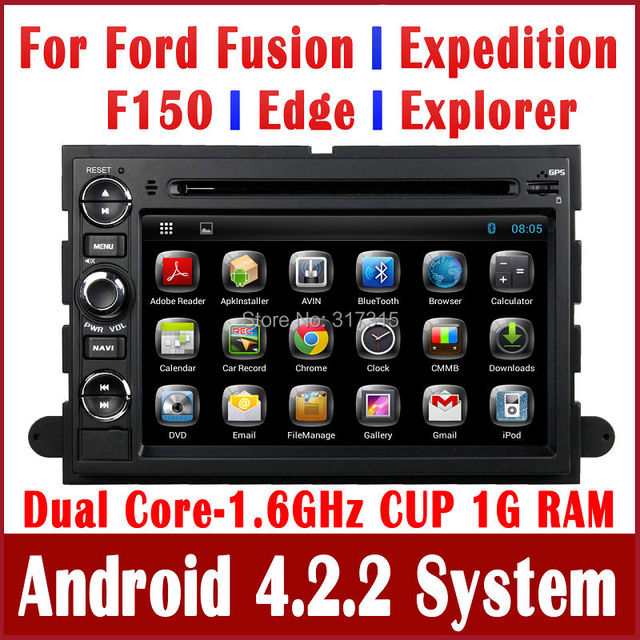 100% Android 4.2 Car DVD Player GPS Navigation for Ford Fusion Explorer F150 Edge Expedition w/ Radio BT CD TV Stereo Audio WIFI
