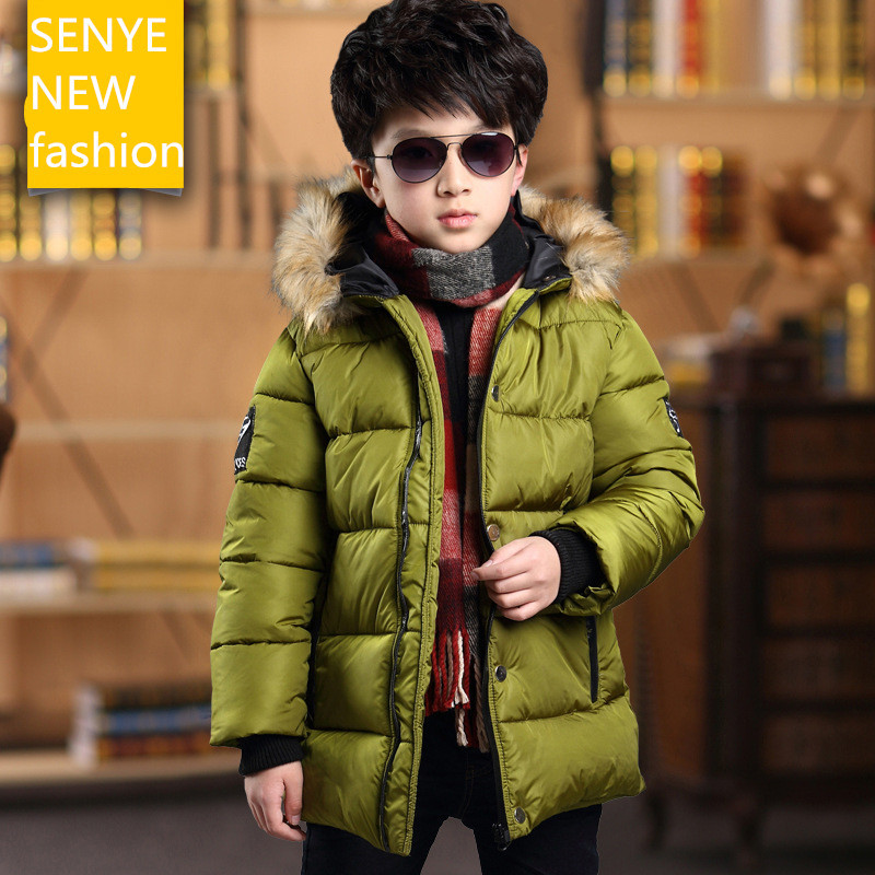 Childrens down jacket Kids boys winter coat down jacket big virgin boy child thick padded zipper jacket free shipping YRF064<br><br>Aliexpress