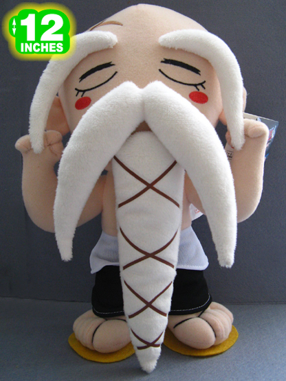 "12"" Yamamoto Genryuusai Shigekuni Stuffed Toys Dolls Japanese Anime Bleach Plush Toy For Cosplay Free Shipping(China (Mainland))"