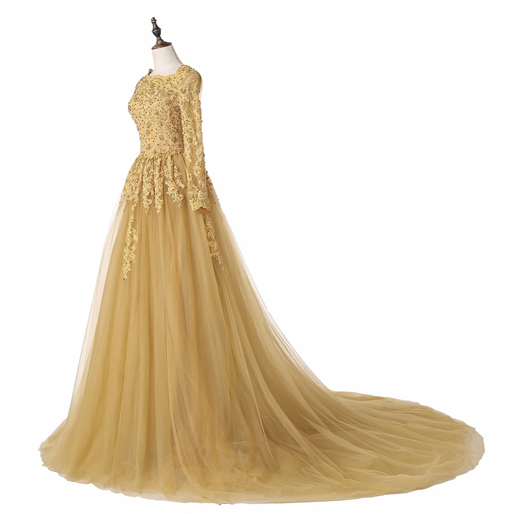 Vintage Wedding Dresses Gold : Vintage long gold dress edin
