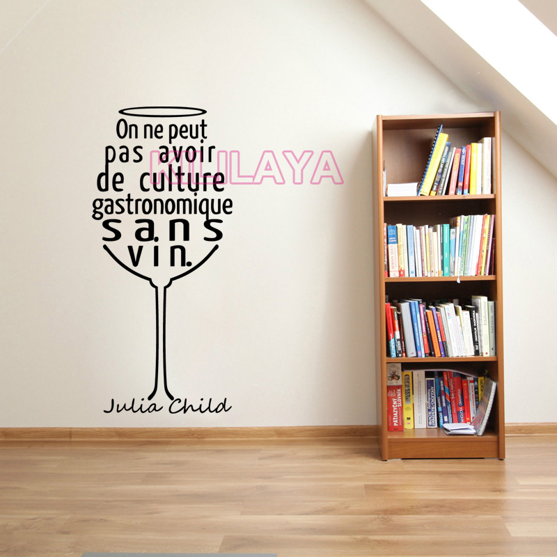 Wall Decor For Home Bar : Stickers french quotes wineglass vinyl wall sticker decals