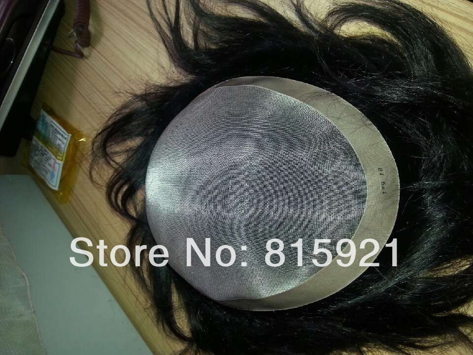 Quality Virgin Human Hair MONO Base Toupee Men Stock Sale - EJS Shop store