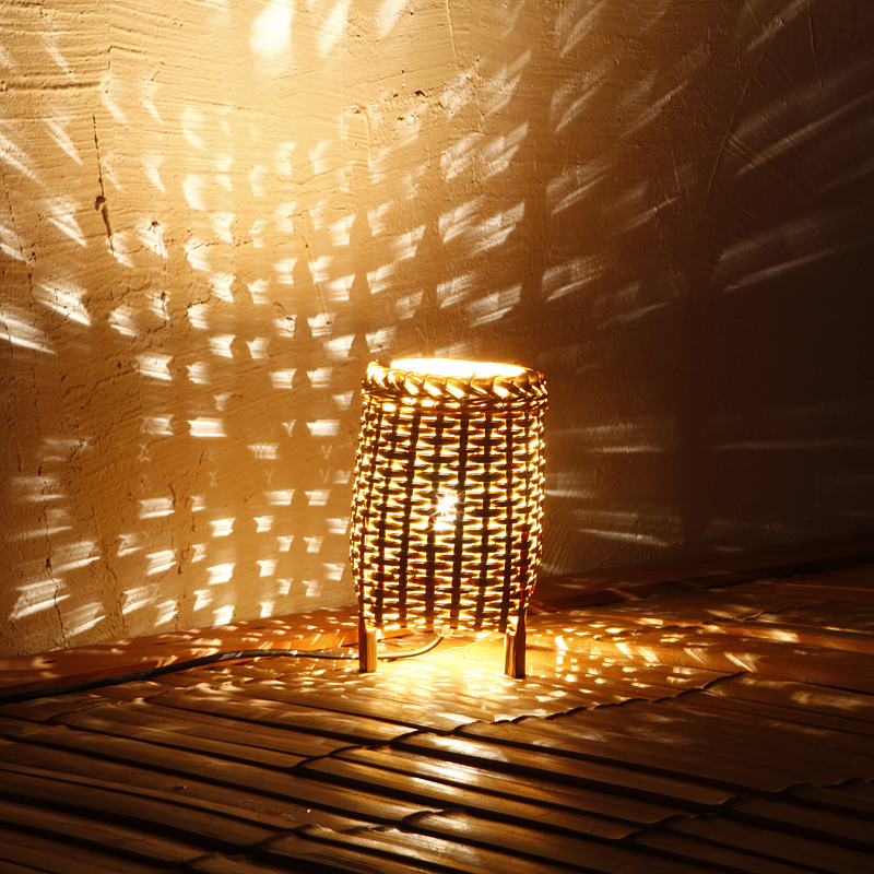 personalized Bamboo weaving table lamp LED romantic night light creative sweet sleep lamp E14 Atmosphere of energy-saving lamp<br><br>Aliexpress