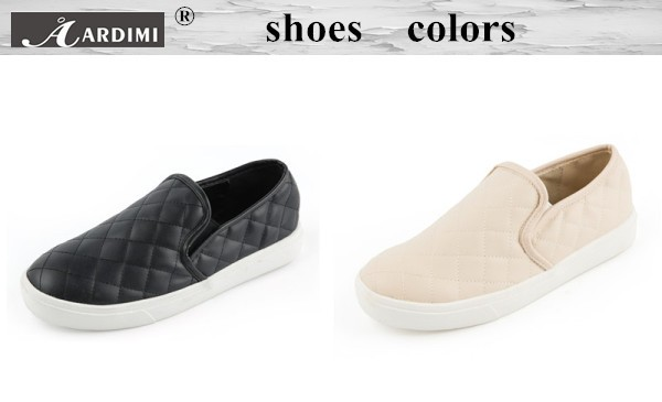 Fashion Cream-colored&black women laofers fashon round toe slip on women flats shoes casual flats shoes women loafers moccasins