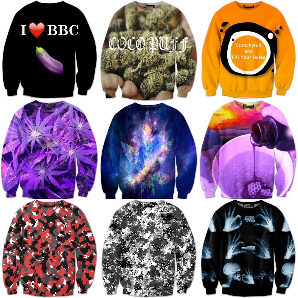 Newest Women Men Galaxy Sweatshirts Street Hipster 3D Sweatshirt Skull Smoking/Camouflage Crewneck Pullovers Hoodie OuterwearОдежда и ак�е��уары<br><br><br>Aliexpress