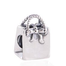2016 Hot Design Necklace Bracelet Pendant Beads Handbag Shape Silver Plated DIY Handmake Original Jewelry Accessories BeadJPB185(China (Mainland))