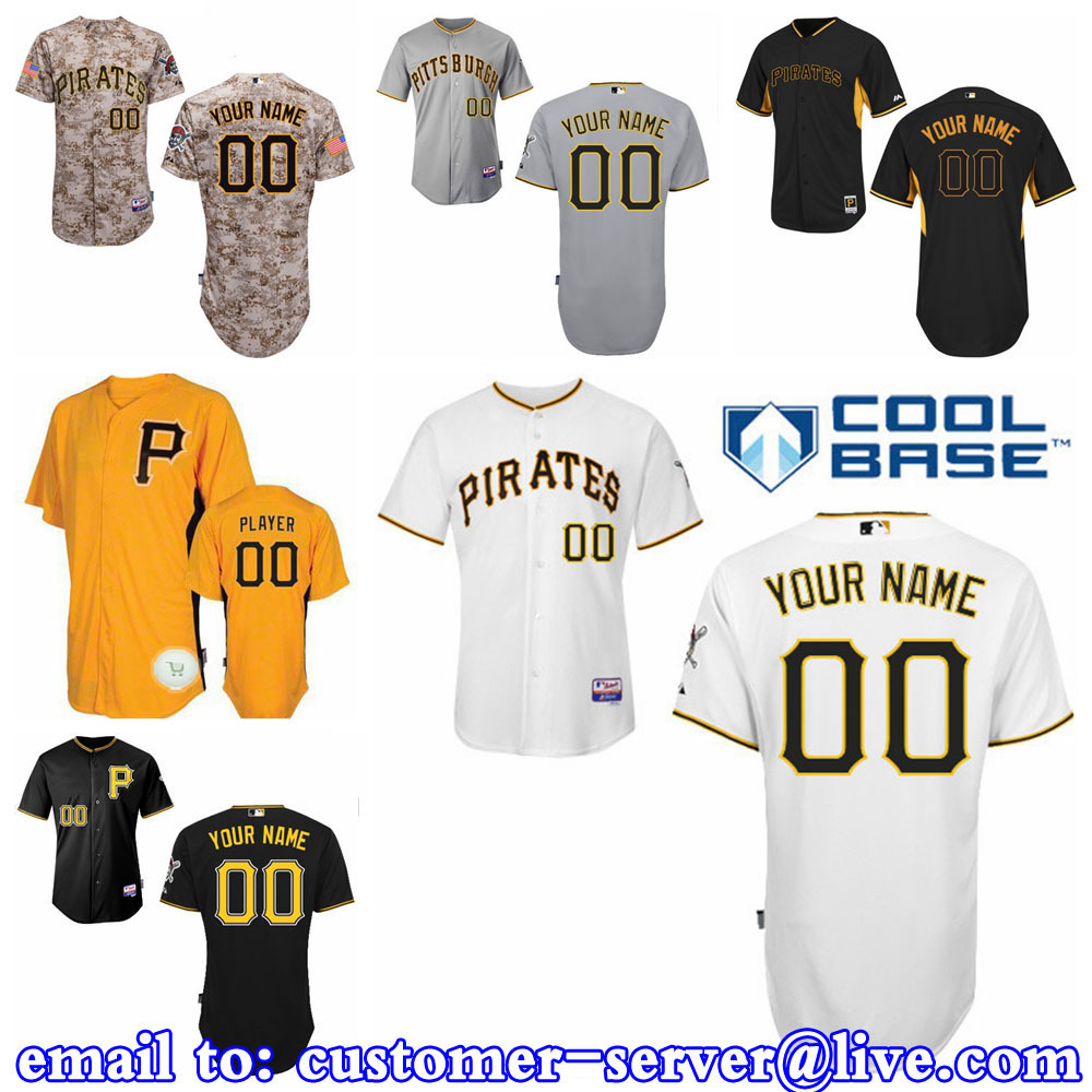 Custom Mens/Womens/Youth Pittsburgh Pirates Josh Harrison / Andrew McCutchen Baseball Jersey 2015 New Cool Base Double Stitched<br><br>Aliexpress