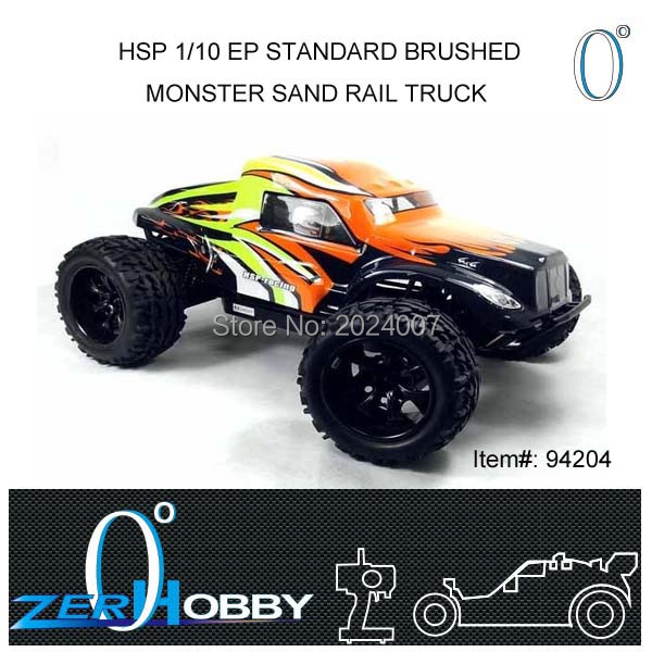 RC CAR HSP 1/10 scale BRUSHED 4WD off road RTR monster sand rail truck (item no. 94204)