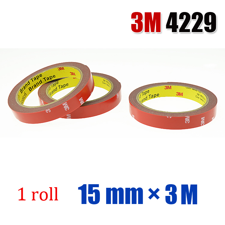3M 4229P 15mmx3m Acrylic Foam Double Sided Tape Strong Adhesive Tape(China (Mainland))