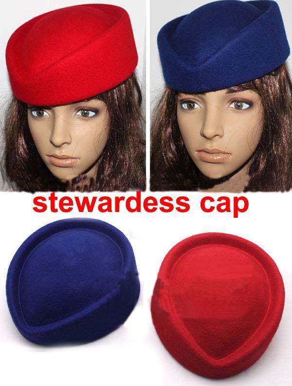 British style nobility fedoras stewardess cap hat cashmere hat overcoat uniform cap hat female(China (Mainland))