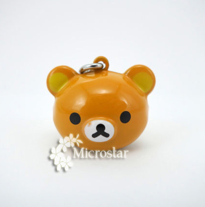 5pcs/lot, Wholesale Enamel Cartoon Bear Craft Copper Pet Bell Charms18.5*19*17mm Yellow Wedding Party Decoration(China (Mainland))