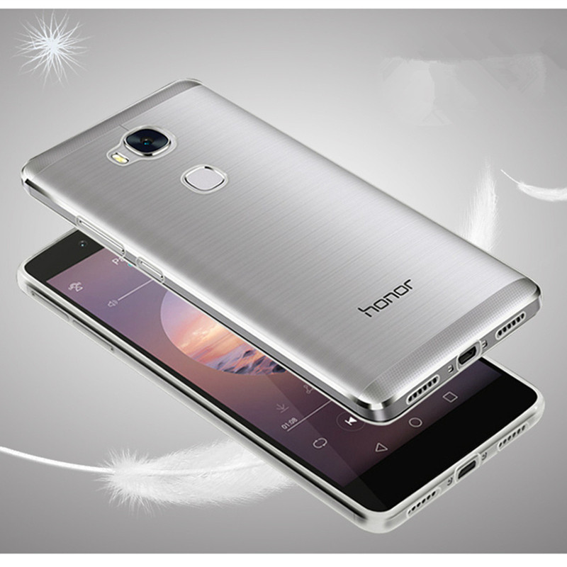 cell phone case for huawei honor 5x 5 x utra thin slim clear transparent invisible tpu silicone soft back cover 5.5 inch coque(China (Mainland))