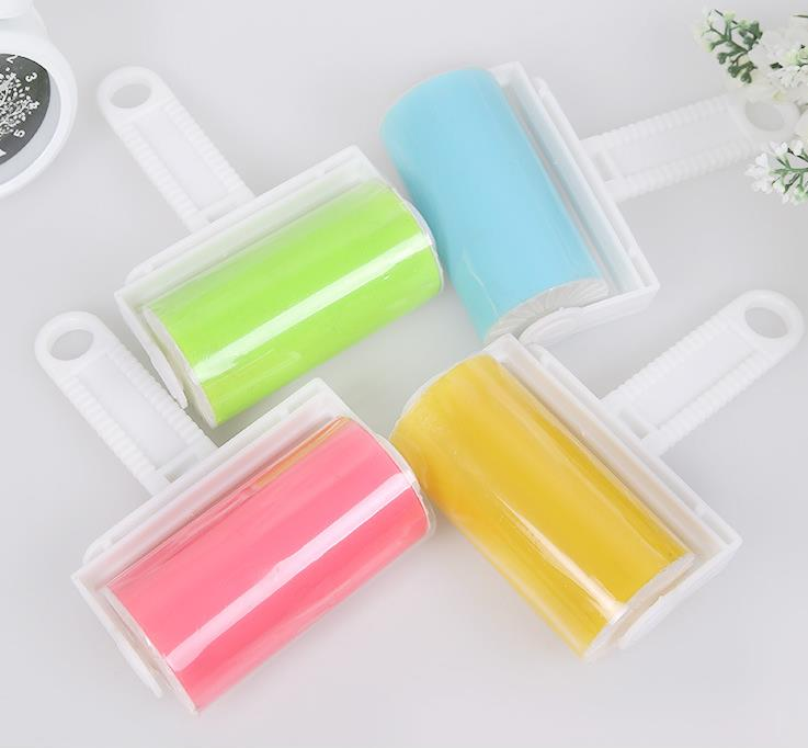 Washable Home Sheet Pet Hair Dust Remover Clothes Cleaning Sticky Silicone Roller(China (Mainland))