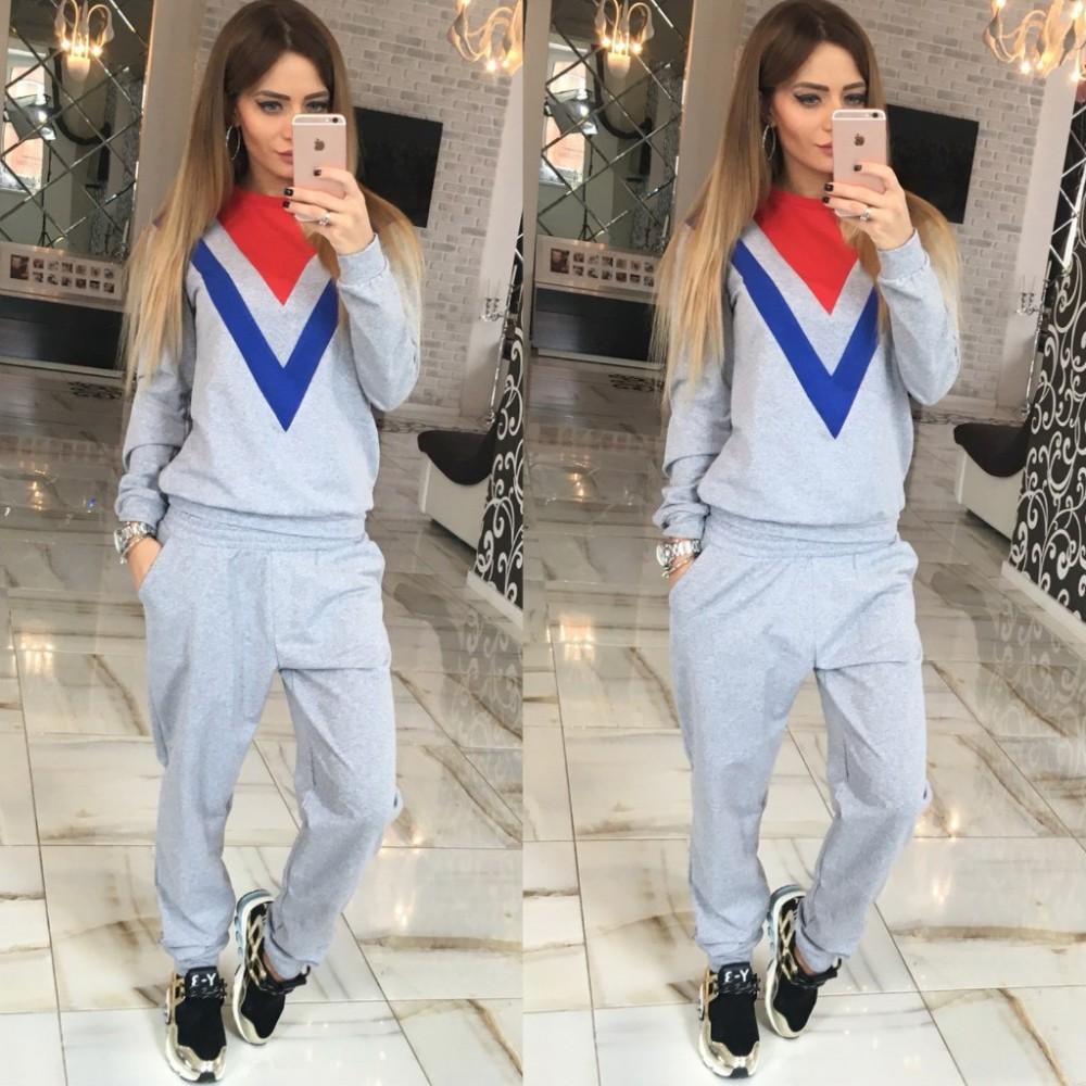 New spring autumn Womens fashion jogging Tracksuits Sport Suits Set Sweatshirts&Trousers Lady Suits 3 Colors m161