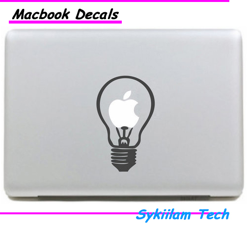 Light Bulb for apple Creative Painting Sticker Skin for Macbook Air 11 13 Pro13 15 Retina Laptop Computer Vinyl Decal(China (Mainland))