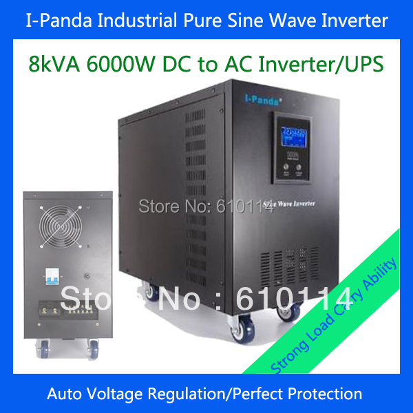 6000w pure sine wave inverter charger with UPS 6000w dc to ac inverter homeuse air conditioner fridge pump inverter(China (Mainland))