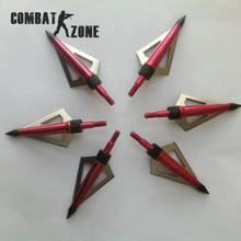 12pcs lot Hunting Broadheads Archery Arrowhead 100 Grain Fits and Compound Bow Arrows Flechas Carbono Free