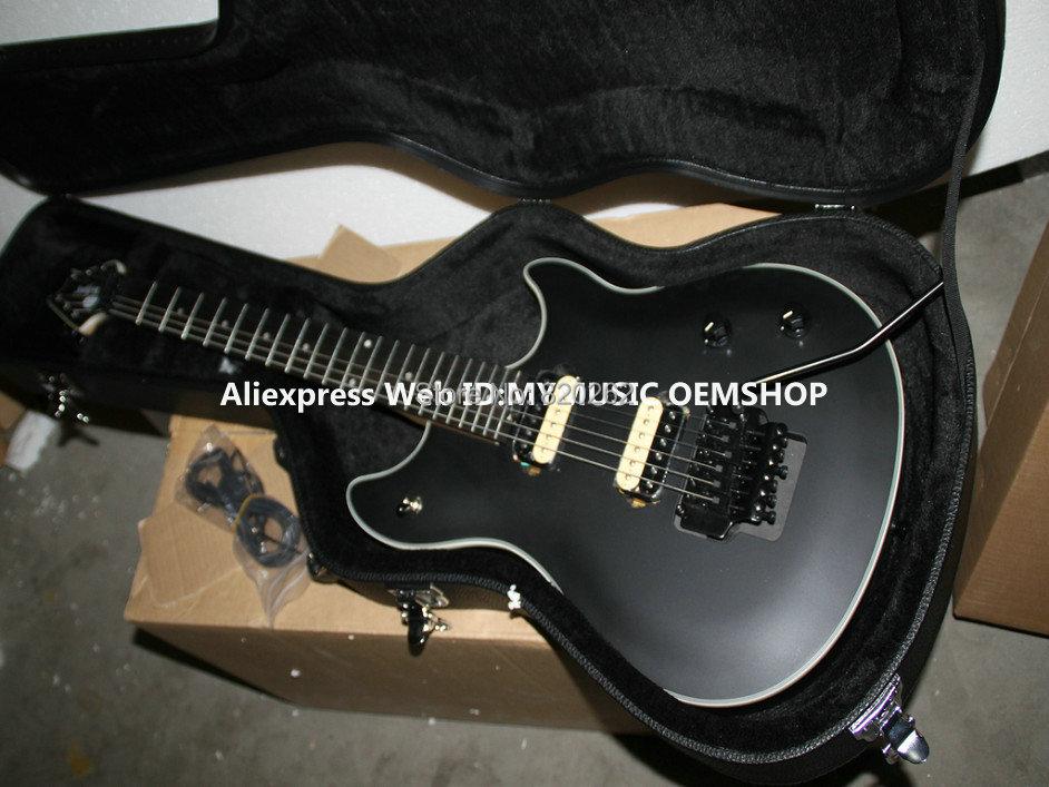 Free Hardcase Newest Black Electric Guitar Ebony Fingerboard Free Shipping(China (Mainland))