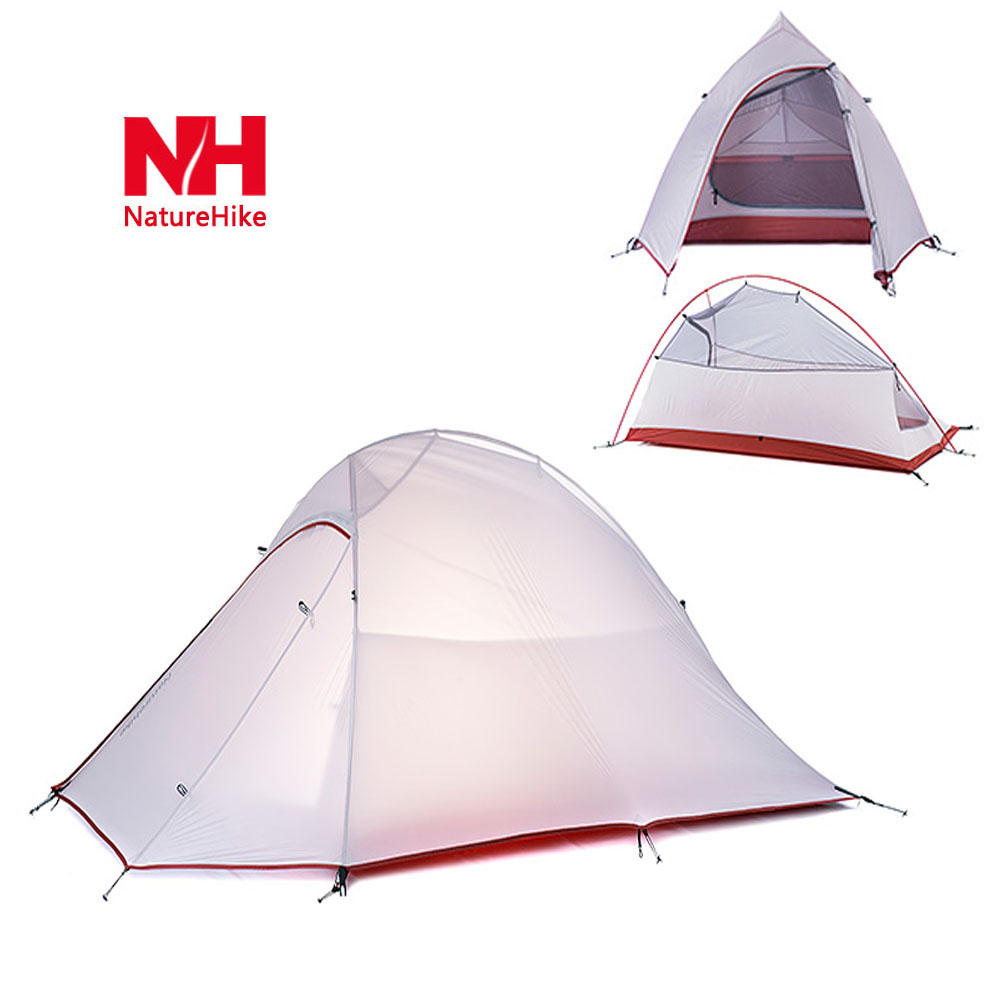 Naturehike 20D professional 2 Person Camping Tent 3000m waterproof index 4 seasons Tent Double Layer Soft Silicone(China (Mainland))
