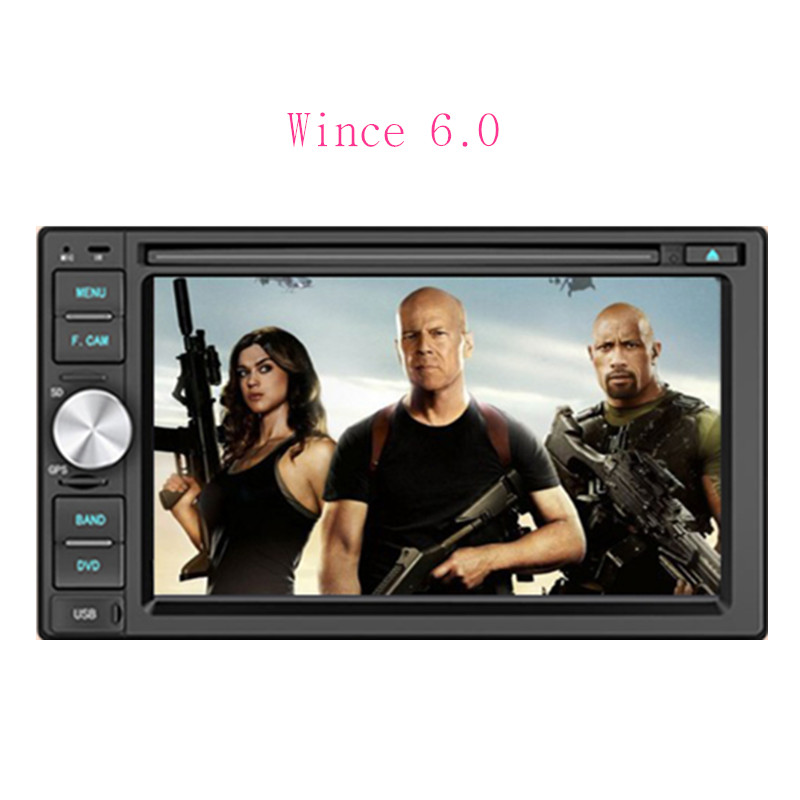 """2016 new model universal car dvd player 2 din car dvd gps wince 6.2"""" screen double din radio support rear view camera input BT(China (Mainland))"""