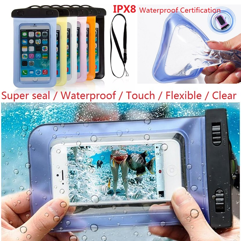 Water Proof Diving Bags Out door WaterProof Pouch Mobile Phone Case For HTC One M7/M8/Desire 310/300/600 For Huawei Ascend P6/P7(China (Mainland))