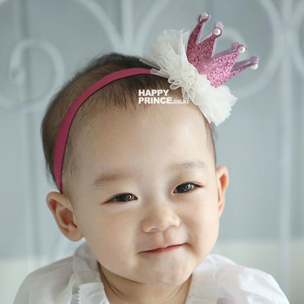 1 шт. девочка сладкий кружева корона повязка на голову дети головной убор аксессуары ...