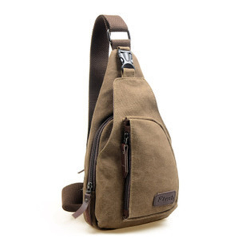 New Fashion Vintage Men and women Small Sport Chest Canvas Crossbody Bags Casual Travel Hiking Messenger Bags Shoulder Bag(China (Mainland))