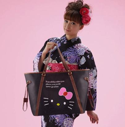 hello kitty large casual tote shopper bag new female leather waterproof big shoulder bags for women handbags bolsa de ombro 5(China (Mainland))