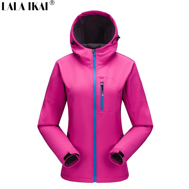Softshell Jacket Women Outdoor Sport Camping Hiking Jacket Women Waterproof Thermal Windproof Jacket Windstopper Coat HWA0090-5