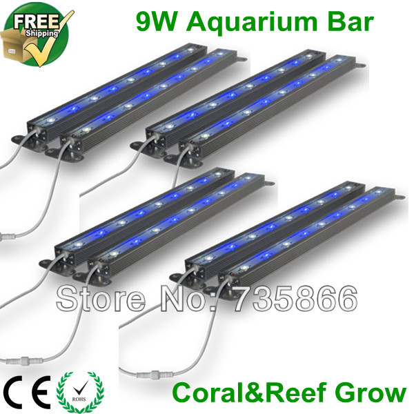 4pcs/lot Aquarium Led Lighting Bar for Fish Tank Coral Reef Growth Fedex/DHL Freeship Dropship CE Passed Driver IP68 Waterproof(China (Mainland))