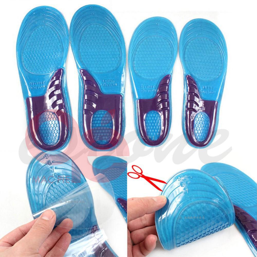 Гаджет  feet care 1 pair men women orthotic arch support sport shoe gel massaging insole run pad None Обувь