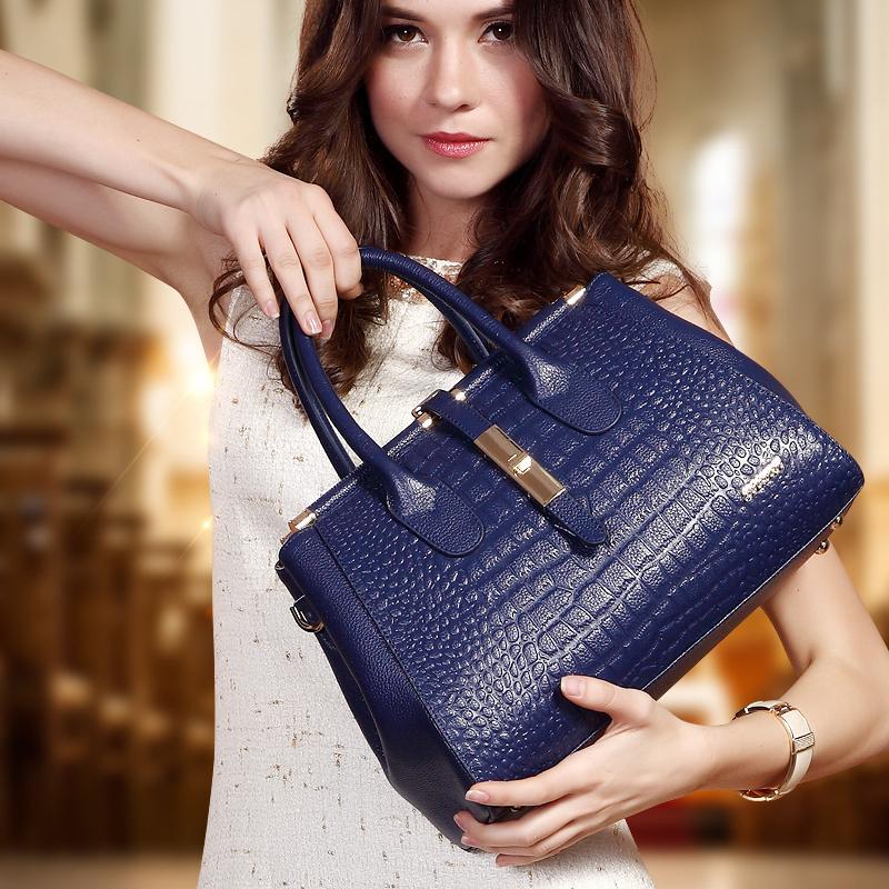 For Crocodile womens genuine leather handbag big bag fashion first layer of cowhide womens bags female one shoulder handbag<br><br>Aliexpress