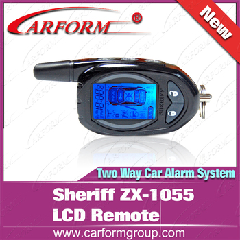 LCD remote controller  for Sheriff ZX-1055  two way  car alarm system/Certification with CE/Free shipping
