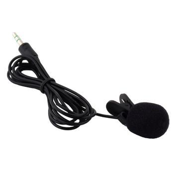 1Pcs 30Hz~15000Hz Mini 3.5mm Tie Lapel Lavalier Clip On Microphone for Lectures Teaching Wholesale