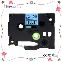 Buy Compatible For Brother P-Touch Laminated Tze Tz Label Tape Cartridge 18mm (TZ-541 TZe-541 Black on Blue) for $6.20 in AliExpress store
