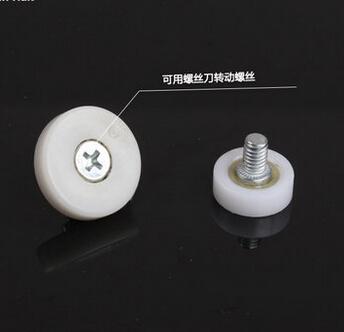 Diameter:25mm M6 Drawer bearing pulley wheels steel File cabinet door round wheel Furniture door moving nylon wheel<br><br>Aliexpress