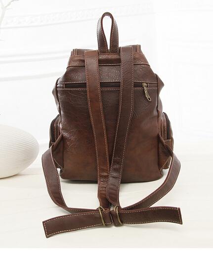 Новинки женщинам рюкзаки мода старинные рюкзаки для девочек-подростков студенты школьные сумки высокое качество искусственная кожа 07