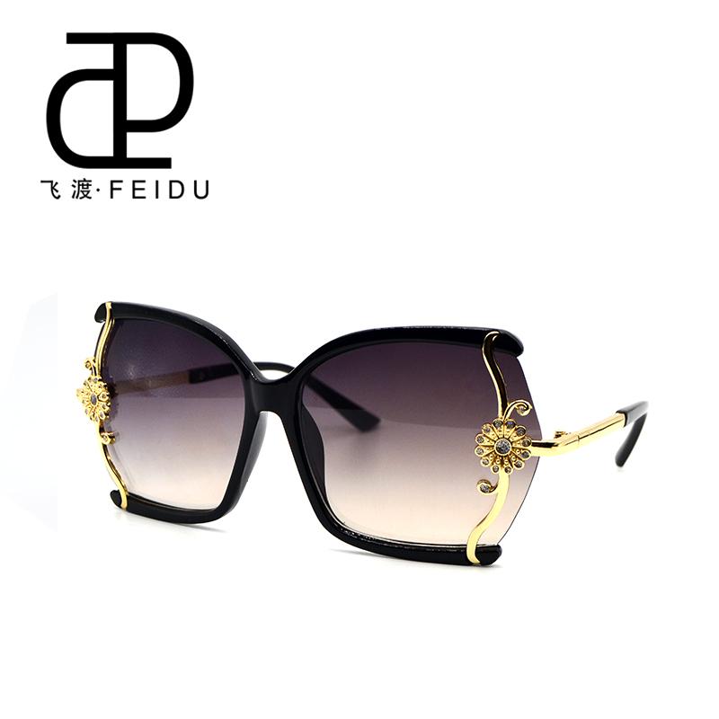FEIDU Luxury High Quality Sunglasses Women Brand Designer With Box Design Ladies Fashion Coating Sun Glasses Oculos De Sol(China (Mainland))