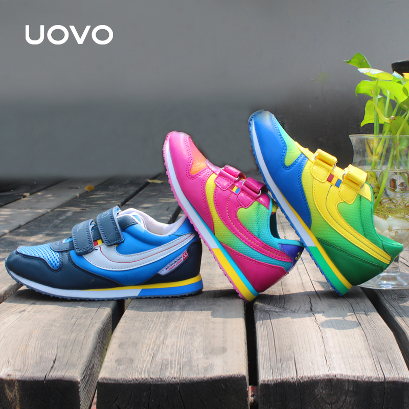 UOVO 2016 hit color fashion children's shoes brand kids shoes school shoes for teen girls and boys size 25-38(China (Mainland))