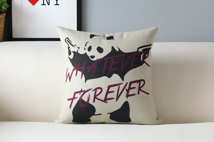 Modern American Pop pillow Panda retro blue flag Pillow cushion pillowcase sofa cushion home decorative Pillows